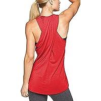 Aibrou T-Shirts et Tops de Sport Femme Débardeur Yoga sans Manche Dos  croisé Running c2e597415fc