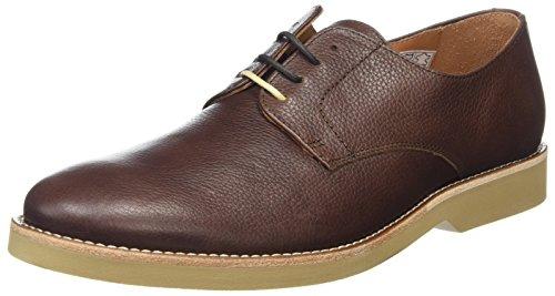 Hackett HMS20594, Zapatos Derby Hombre, Marrón (Dark Brown 898), 42 EU
