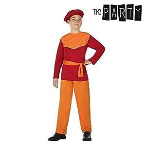 Atosa-31578 Atosa-31578-Disfraz Paje niño infantil-talla 7 a 9 años rojo-Navidad, color (31578)
