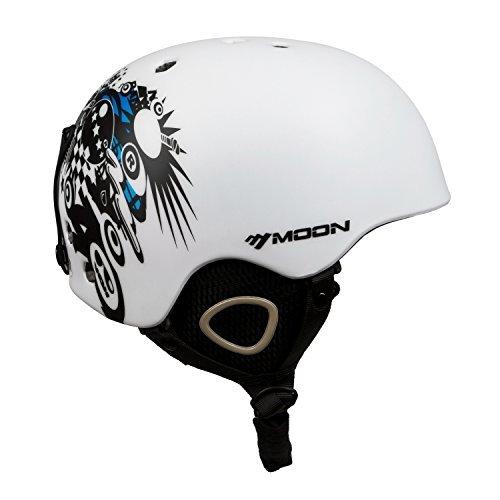 Sunvp Casco Sci da Adulto per Uomo e per Donna Taglia Regolabile Anticolpo con Fori di Ventilazione Casco Certificato per Snowboard Bianco L