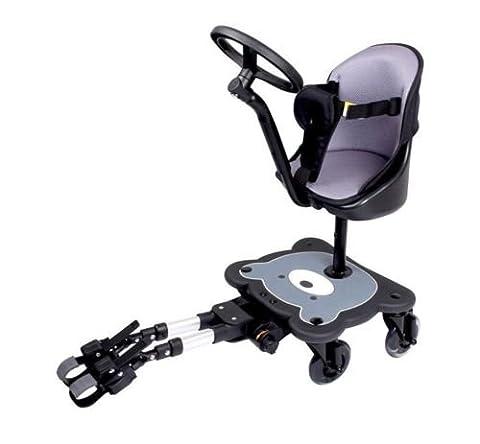 MEE-GO Sit n Ride 4à roulettes Ride On Board universelle pour poussette avec siège et volant pour s'adapter à toutes les poussettes, landaus et poussettes–Approuvé par l'autistes Society