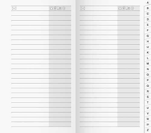 Baier & Schneider - Calendario/rubrica tascabile, 87 x 153 mm, copertina in cartone, bianco