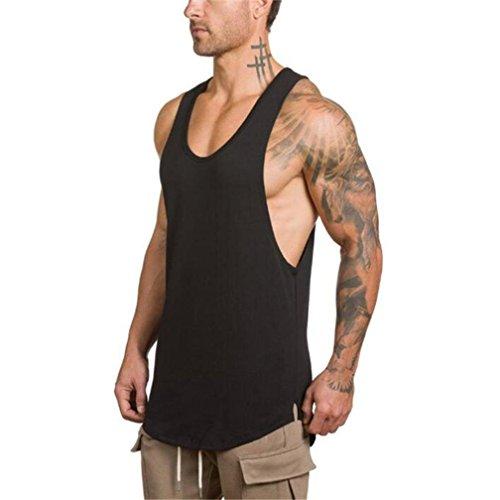 Sports Herren Tanktop MEIbax Fitness Bodybuilding Fitness Muskel Sleeveless Unterhemd T-Shirt Slim Fit Ärmellos Sweatshirt Spitzenweste Behälter der Männer