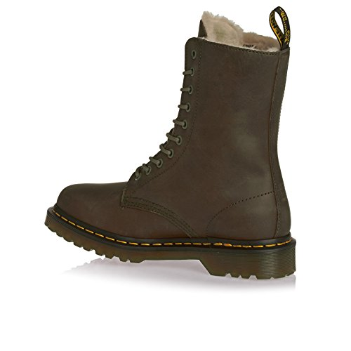 Dr. Martens 1490 FL 10 Eye Boot Grenade Green Wildhorse Braun