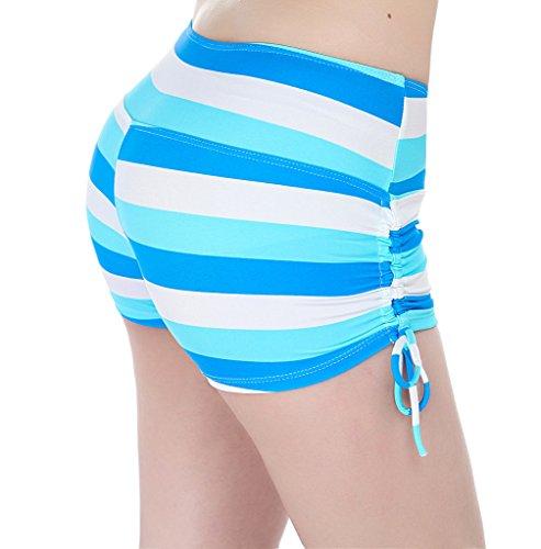 YoungSoul Badeshorts für Damen - Boardshorts Schwimmshorts Schwimmen Sport Bikinihosen - Tankini Hotpants mit Verstellbare Kordel Sternchen 3