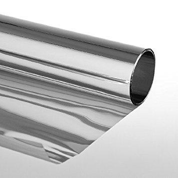 DiversityWrap silberne, reflektierende und halbdurchlässige Solar-Fensterfolie, 35 % Privatsphäre, Glastönung zum Aufkleben, 76m, silber, 2m x76cm (78.74