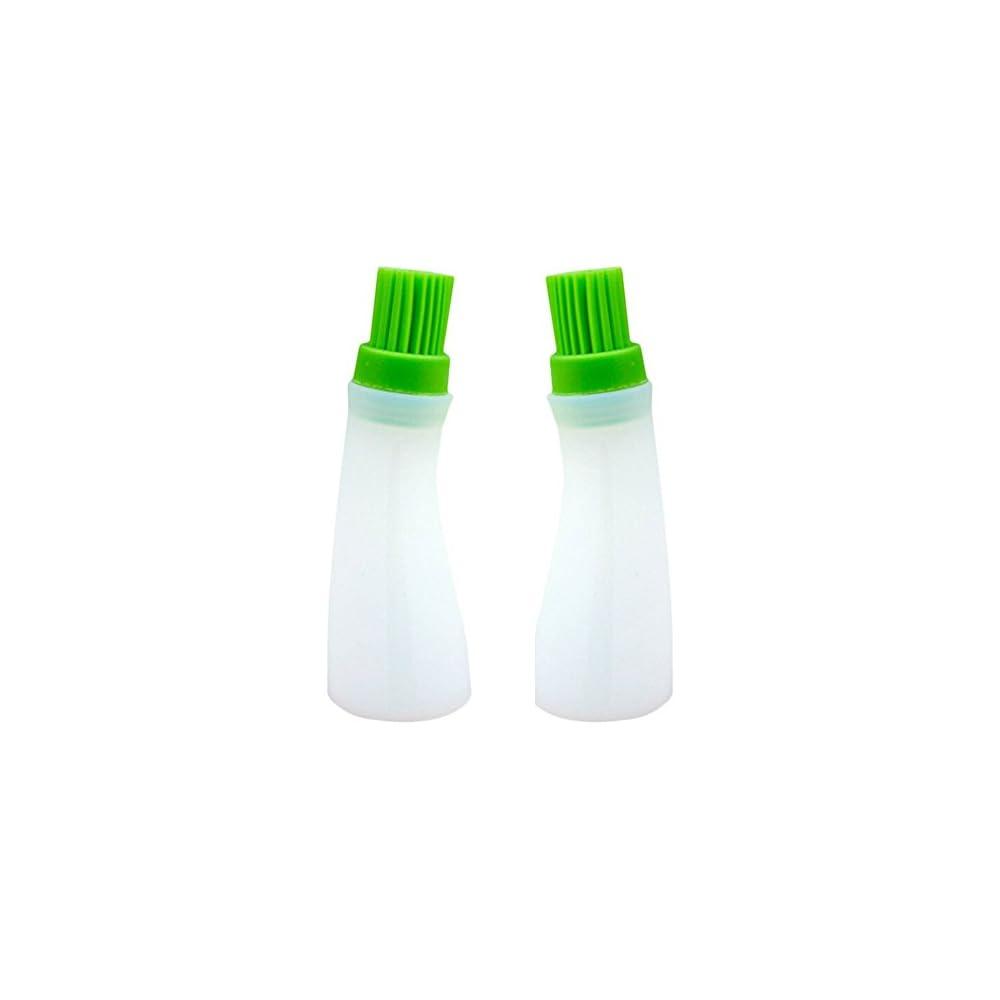 2 Stck Silikon Backpinsel Grillpinsel Lflasche Mit Pinsel Hitzebestndig Bratenpinsel Fr Barbecue Kochen Backen Grill Werkzeuge
