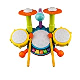 Best Kids Drum Sets - Kids Drum Set Beats Flash Light Educational Musical Review