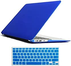 CABLESETC™ Matte SeeThru Hard Shell Case Cover For (Apple Macbook Pro 15.4 Retina A1398, Blue)