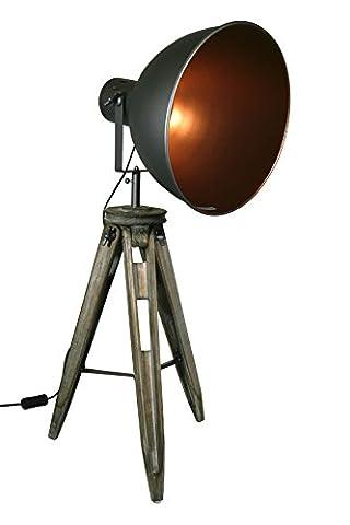 STATIV STEHLEUCHTE STUDIOLAMPE STEHLAMPE SPOT Schwarz/Gold Lampe H 90cm