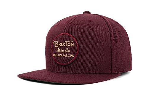 Brixton Unisex Kappe Wheeler Snapback Maron Rot