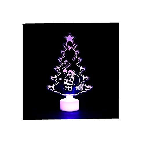 ODJOY-FAN Weihnachten Kreativ Bunt Nachtlicht Schmetterling Nacht Licht LED Dekorativ Licht Acryl Klein Weihnachtsbaum Licht Weihnachten Beleuchten Night Light LED Light (A,1 PC)