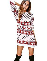 Amazon.it  tunica bianca - Vestiti   Donna  Abbigliamento 89a5b6e9a4c