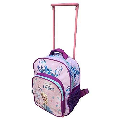 Zaino trolley frozen elsa disney asilo borsa 2 ruote scuola sagome 3d cm.36 - fr0234