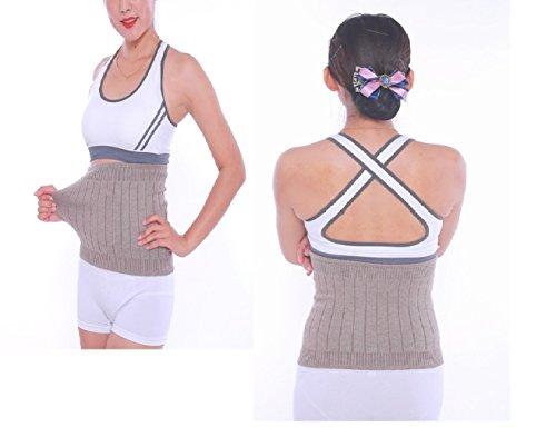 AGIA TEX elastischer Nierenwärmer Rückenwärmer atmungsaktiv aus Kaschmir-Wolle Leibwärmer für Damen Herren Kinder Größe XL und Farbe Beige