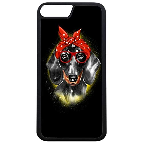 Guuhuu iPhone 7 Plus Hülle Cover Dackel Welpe Hund,iPhone 8 Plus TPU Schutzhülle Dachshund Dog Art Hülle Cover Girls Dachshund Art Fantastisch Hülle für iPhone 7 Plus/8 Plus
