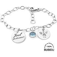 Herzengel Engelsflügel Herz Kinder Taufe Name Datum Gravur Armband Silber 925