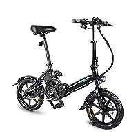 FIIDO D3 Bicicleta eléctrica Plegable de Aluminio de 14 Pulgadas Plegable E-Bike 250W Motor Adult...