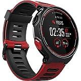 Montre Multisport COROS PACE avec GPS et Surveillance de la Fréquence Cardiaque au Poignet - Comprend la Course à Pied, le Cyclisme, la Natation et le Triathlon et l'altimètre Barométrique, STRAVA Compatible (Rouge)