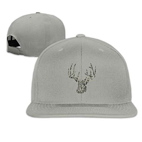 Camouflage Camo Deer Snapback Hats Adjustable Solid Flat Bill Baseball Cap Men (Camo Cap Flat Bill)