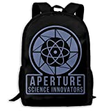 Sac à Dos Scolaire, Travel Hiking Aperture Portal Logo Backpacks Waterproof Big Student College High School Shoulder Bag Outdoor...