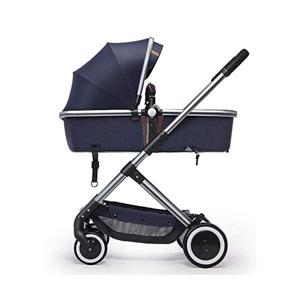 XYUJIE Baby Carriage,Ultra Light And High Landscape Can Sit Reclining Four Wheel Shock Simple Folding Trolley XYUJIE  1