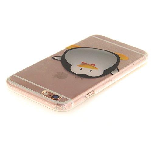 iPhone 6S Hülle,iPhone 6 Hülle,iPhone 6 6S Silikon Hülle [Kratzfeste, Scratch-Resistant], Cozy Hut iPhone 6 6S (4,7 Zoll) Hülle TPU Case Schutzhülle Silikon Crystal Kirstall Clear Case Durchsichtig, F Cartoon Pinguin