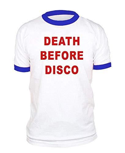 GHMJVHFG Death Before Disco - Movie 80's Retro - Cotton Ringer Tee XXL (Herren Retro Ringer Kostüm)