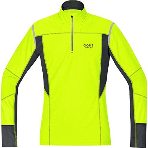 GORE RUNNING WEAR, Maglia Corsa Uomo, Termica, Maniche lunghe, GORE Selected Fabrics, MYTHOS 2.0 Thermo, Taglia S, Giallo/Nero, SMYTTM089903