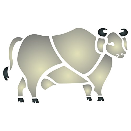 brahma-bull-stencil-size-19-x-115cm-reusable-wall-stencils-for-painting-best-quality-farm-animals-st