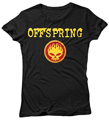 Damen-T-shirt Offspring - punk rock 100% Baumwolle LaMAGLIERIA Schwarz