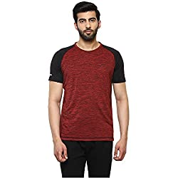 Proline Mens Solid Regular Fit Active Base Layer Shirt (PA025_Rdsd_Large)