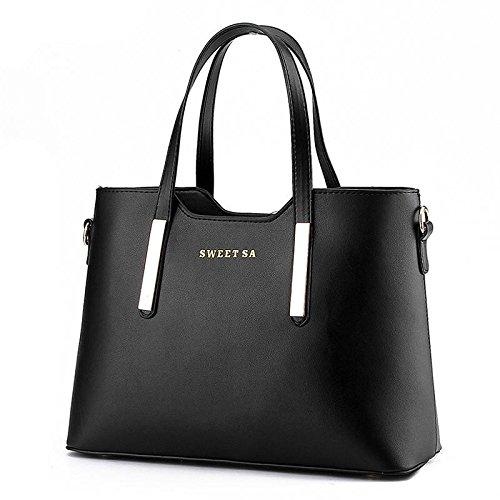 LDMB Damen-handtaschen OL Pendler trendige Frauen Umhängetasche Messenger Black