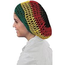 Rasta Red para el cabello - Redecilla - Crochet Hair Net Redecilla En Rasta  Colores 078cff6e144
