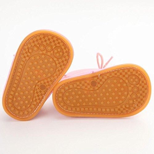 Ouneed® Krabbelschuhe , 0-18 Monate Baby Kleinkind Säuglings Schnee Stiefel Schuhe Gummisohle Prewalker Krippe Schuhe Rosa