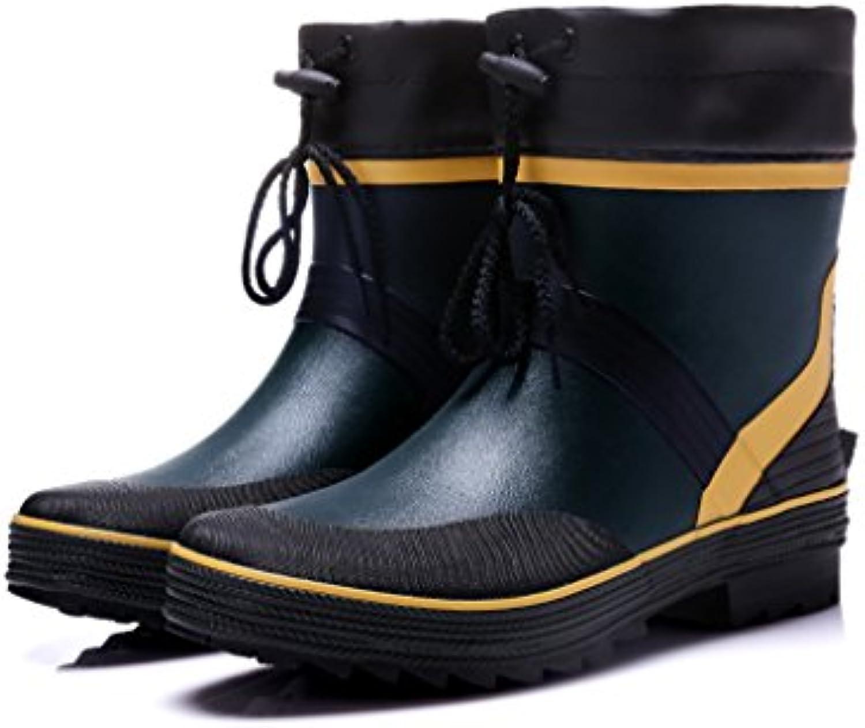 Short Barreled Herren Regen Stiefel Gummi Schuhe Rutschfeste Komfort Plus Samt Wasserdichte Schuhe Outdoor Angeln