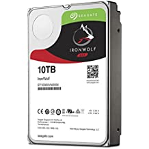 Seagate 10 TB IronWolf 3.5 Inch 7200 RPM Internal Hard Drive for 1-8 Bay NAS Systems (256 MB Cache, 180 TB/Year Workload Rate, Up to 210 MB/s)