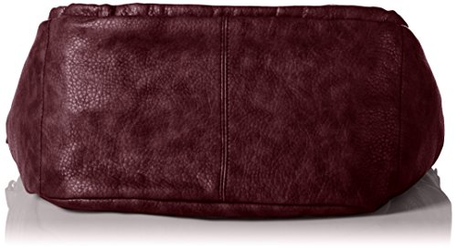 s.Oliver 39.610.94.7764, Borsa a Spalla Donna, 33x28x17 cm (B x H x T) Rosso (dark plum 3996)
