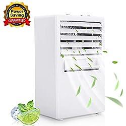 Winload Refroidisseur D'Air, 3 EN 1 Mini Climatiseur Portable, Humidificateur, Purificateur, Mini Air Refroidisseur, 3 Vitesses, Personnel Mini Climatiseur pour Maison et Bureau (Blanc)