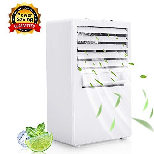 Winload Mini Luftkühler mit Wasserkühlung, 3 in1 Mini Air Cooler, 3 Kühlstufen, Tragbare Klimagerät, Luftbefeuchter, Luftreiniger, Luftkühler Mini Klimaanlage für Büro, Wohnheim und Hause