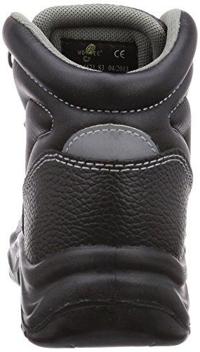 Wortec - Scarpe antinfortunistiche Basic Mid S3, Unisex - adulto Nero (Schwarz (schwarz))