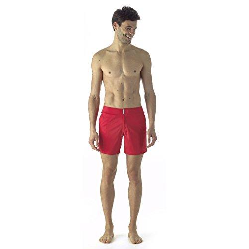 Vilebrequin Swimwear - Einfarbiges Superflex-Modell Herren Mohnrot