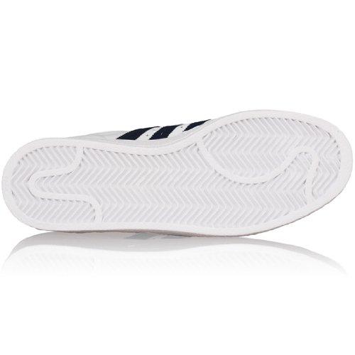 adidas - Superstar Ii, Sneaker Uomo Bianco e blu marino