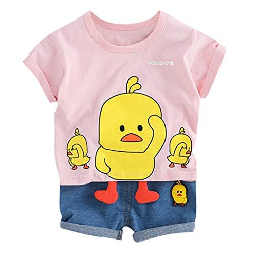 Le Top Ente (Kleinkind Baby Kinder Jungen Cartoon Ente Tops Kurze Hosen Casual Outfits Set)