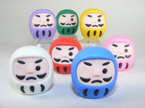 Iwako 7 Colores japoneses Borradores Daruma (7 piezas)