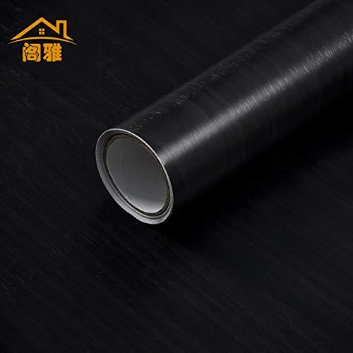 Schwarz-Weiß-Tapete selbstklebend, wasserdicht Schlafzimmer Wohnzimmer Tapete Wandaufkleber schwarz und weiß, 60cm