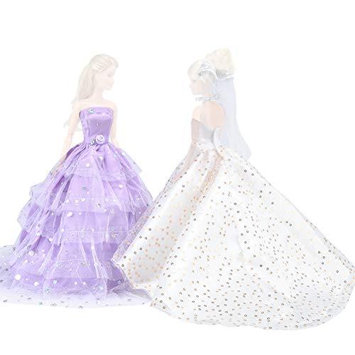 d Cinderella Hochzeit Floral Kleid Spitzenkleid mit Pailletten Abend Party Outfit für Cinderella königlichen Ball und Dornröschen ()