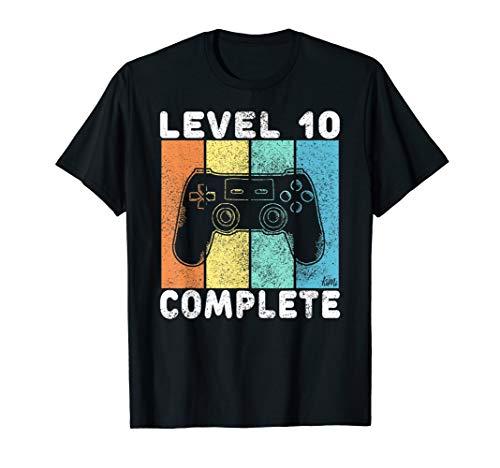 10. Geburtstag Jungen Gamer Level 10 Complete 10 Jahre T-Shirt
