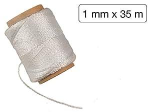 Rolle Nylon Maurerschnur weiss 1 mm x 35m