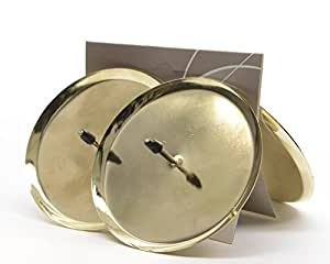 set of 4 advent candle holders 8 cm gold candle holder. Black Bedroom Furniture Sets. Home Design Ideas